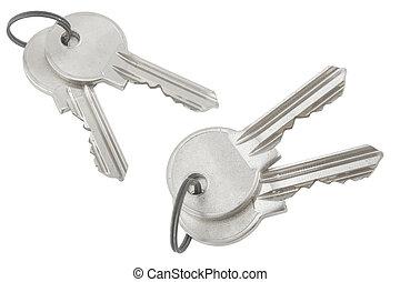 silver bunch of keys