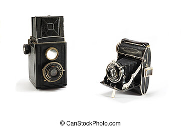 Two old film photo cameras