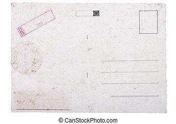 backside of old postal card
