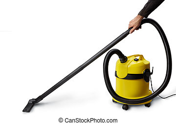 vacuum cleaner - isolated on white background with soft...