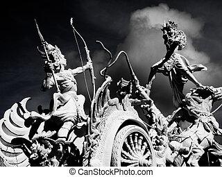 Gatot kaca - Monument of Gatoto kaca in Kuta Bali
