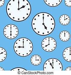 Abstract background with office clocks - Abstract blue...