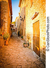 La provence - A street of an old village in La provence