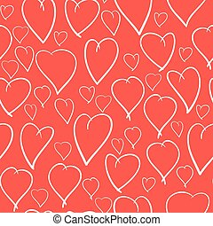 Valentine's day background with hearts - Valentine's day red...