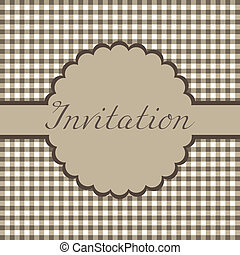 Invitation card - Template frame design for invitation card