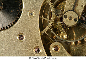 clock gear macro close up