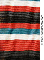 colorful striped fabric - closeup of colorful striped fabric...