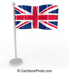 Flag of Britain - Illustration of a flag of Britain on a...