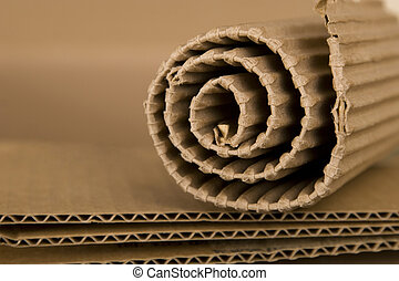 spiral made from cardboard - close-up of spiral made from...