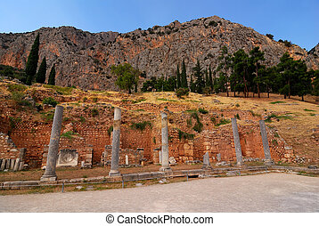 Delphi ancient site, Greece - Site of Delphi oracle, ancient...