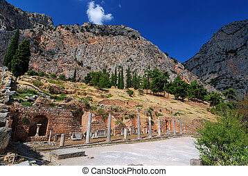 Delphi ancient site, Greece