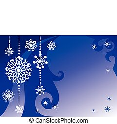 Winter New Year's background - New Year's and Christmas...