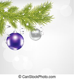 Xmas Background - Christmas And New Year Illustration With...