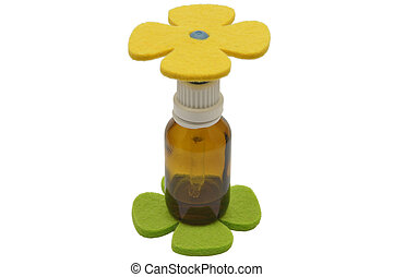 Bach flower remedies and felt decoration