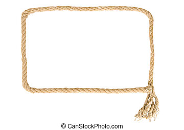 frame made from rope on white background