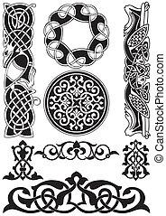 keltisk, vektor, art-collection