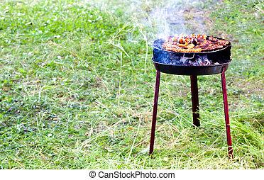 rib-eye on the grill