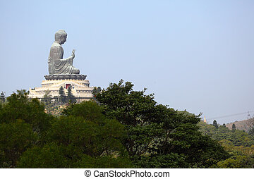 Giant Buddha Statue in Tian Tan. Hong Kong, China