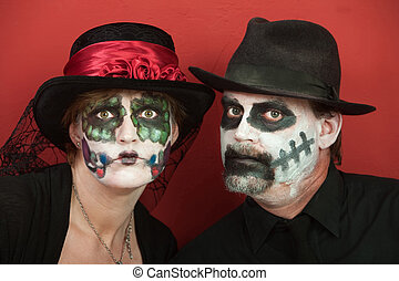 All Souls Day Couples - Couples wearing All Souls Day Black...