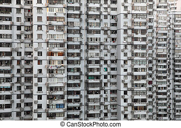 Highrise residential building in Shanghai, China