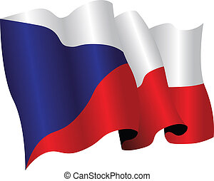czech republic - national flag of czech republic