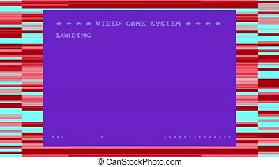 Retro Video Game Loading - Animation of a 1980's retro video...