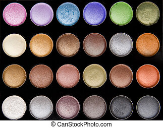 vivid colored eye makeup - front view of vivid colored eye...