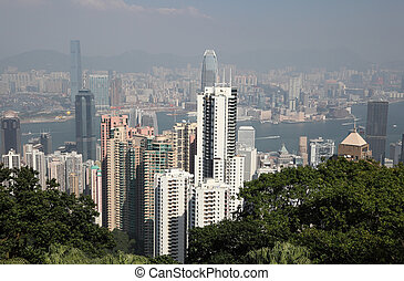 Hong Kong view from the Victoria Peak