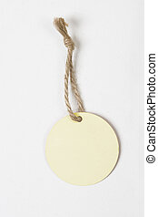 round blank tag for products on white background