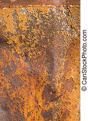 rusty metal, showing rust textures - Detail of rusty metal,...