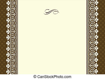 Vector Ornamental Frame With Thin Border
