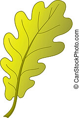Oak leaf, autumn - Leaf of an autumn oak tree, nature...