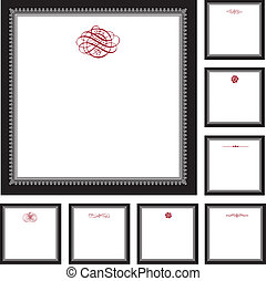 Vector Ornate Frame Set and Ornaments
