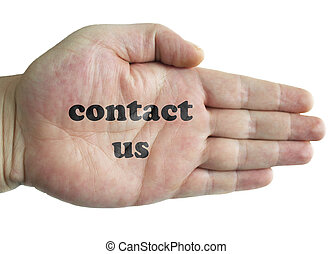 contact us, word in hand