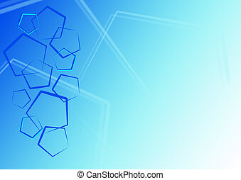 Blue pentagon background