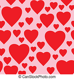 Simple pink background with red hearts - Valentine's day...