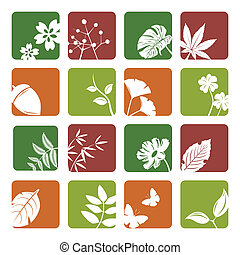Leaf icons set Illustration vector