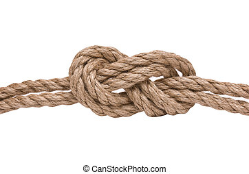 marines knot isolated on white background