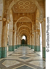 Gallery in Perspective - A gallery in the mosque of Hassan...