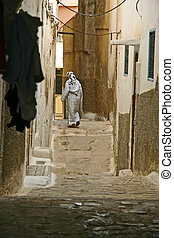 Small arabic street - Streetview in Moulay Idriss