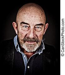 old man - An old man with a grey beard
