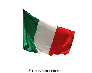 Italian flag isolated on white.