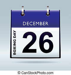 Boxing day calendar blue - Simple blue and white boxing day...