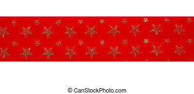 Christmass ribbon - Red Ribbon with stars shape pattern...
