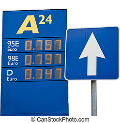 The prices for gasoline