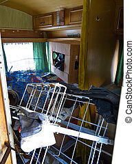 Messy Apartment - A messy apartment in which there are many...