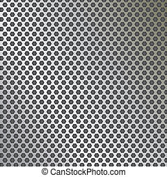 Metal grid texture vector