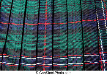 Scottish kilt - Scottish tartan pattern, part of a...