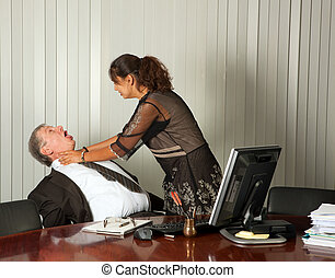 Killing the boss - Frustrated assistant committing murder by...