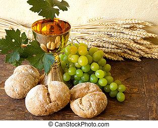 uvas, santo, vino